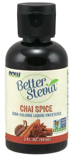 NOW® Foods NOW Better Stevia Liquid, Chai koření, 59ml