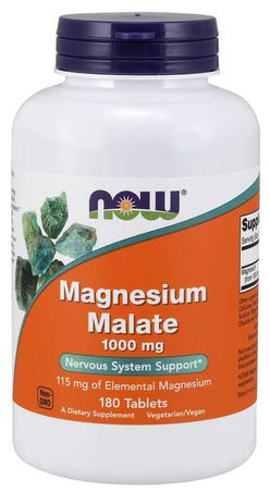 NOW® Foods NOW Magnesium Malate, 180 tablet