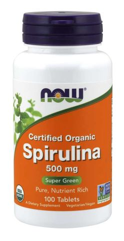 NOW® Foods NOW Spirulina Organic, 500 mg, 100 tablet