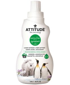 Attitude - 2v1 prací gel a aviváž s vôňou Mountain Essentials, 1050 ml