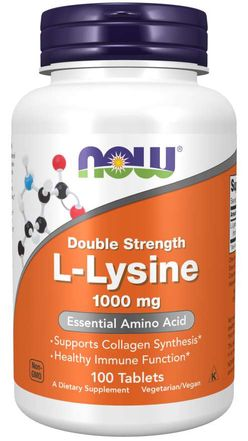 NOW® Foods Now L-Lysine (L-lysin), 1000 mg, 100 tablet