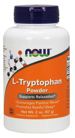 NOW® Foods NOW L-Tryptophan Powder, L-Tryptofan prášek, 57g