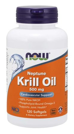 NOW® Foods NOW Krill Oil Neptune (olej z krilu), 500 mg, 120 softgel kapslí