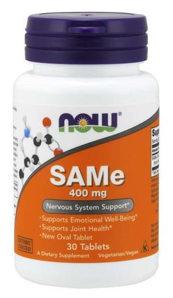 NOW® Foods NOW SAMe (S-adenosylmethionin), 400 mg, 30 tablet