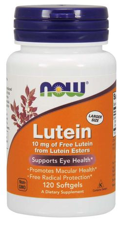 NOW® Foods NOW Lutein 10 mg (zdraví očí), 120 softgel kapslí