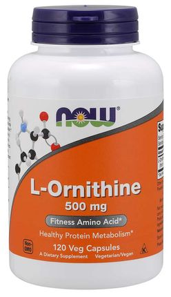 NOW® Foods NOW L-Ornithine 500 mg, 120 kapslí