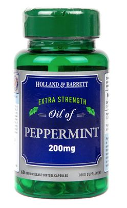 Holland & Barrett Holland&Barrett Oil of Peppermint (olej z máty peprné), 200 mg, 60 kapslí