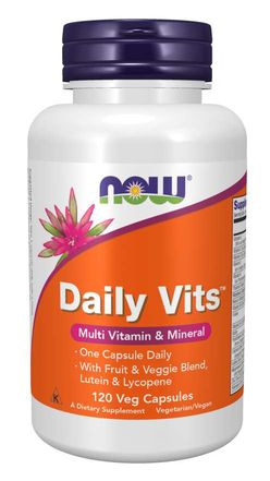 NOW® Foods NOW Multi Vitamins Hi Quality, Daily Vits, 120 rostlinných kapslí