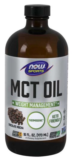 NOW® Foods NOW MCT olej, Chocolate Moca, 473 ml