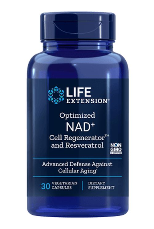 Life Extension Optimized NAD+ Cell Regenerator™ a Resveratrol, 30 rostlinných kapslí