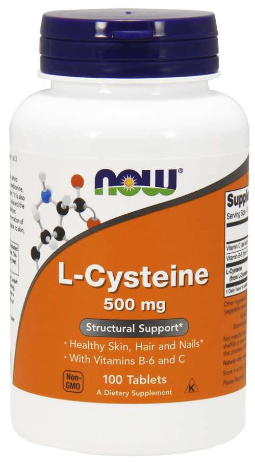 NOW® Foods NOW L-Cysteine, 500 mg, 100 tablet