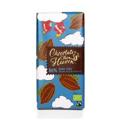 Chocolates from Heaven - BIO horká čokoláda Peru 80 %, 100 g