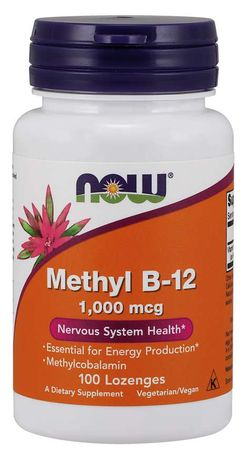 NOW® Foods NOW Methyl B12, 1000 ug, 100 pastilek