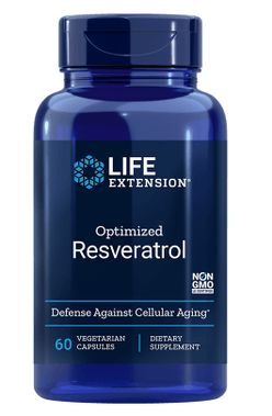 Life Extension Optimized Resveratrol, 250 mg, 60 kapslí