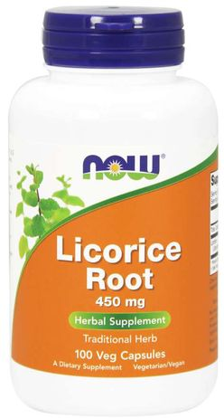 NOW® Foods NOW Licorice Root (lékořice) 450mg 100 kapslí