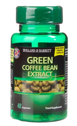 Holland & Barrett Holland&Barrett Green Coffee Bean Extract (Extrakt z kávových zrn), 42 kapslí