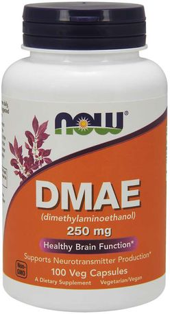 NOW® Foods NOW DMAE, dimetylaminoetanol, 250 mg, 100 kapslí