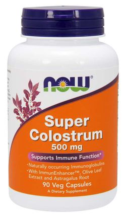 NOW® Foods NOW Super Colostrum (kolostrum) Complex 500 mg, 90 rostlinných kapslí