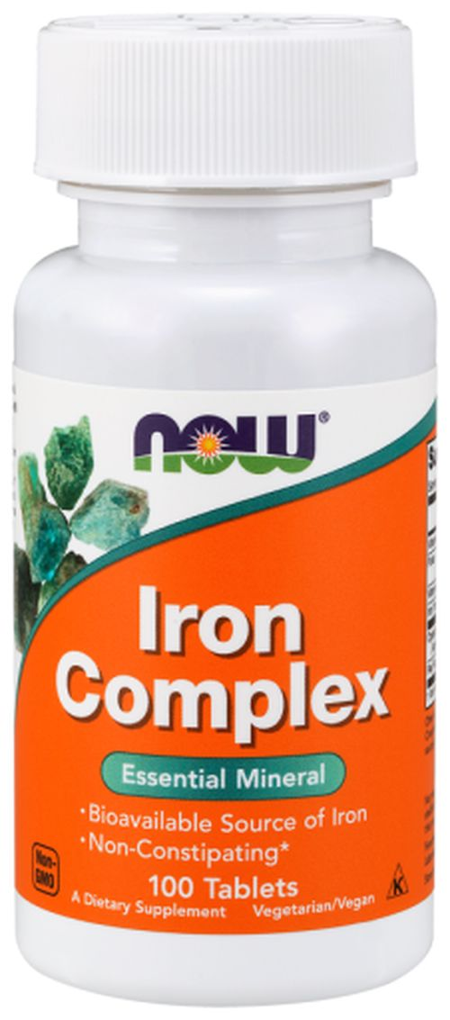 NOW® Foods NOW Iron Complex (železo), 100 tablet