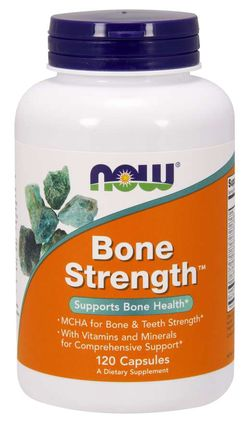 NOW® Foods NOW Bone Strength, (silné kosti), 120 kapslí