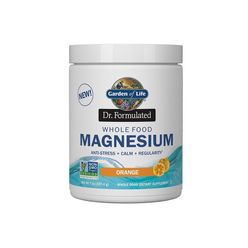 Garden of Life - Dr. Formulated Whole Food Magnesium (pomaranč), 197 g