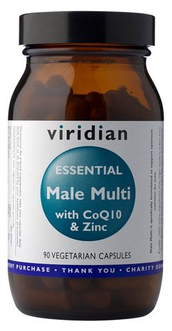 Viridian Essential Male Multi with CoQ10 a Zinc 90 kapslí