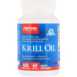 Jarrow Formulas Jarrow Krill Oil, 600 mg, 60 softgelových kapslí