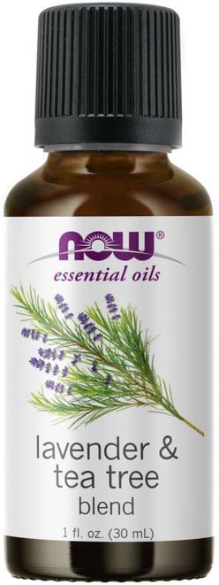 NOW® Foods NOW Essential Oil, Lavender & Tea Tree Oil (éterický levandulový + tea tree olej), 30 ml