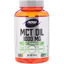 NOW® Foods NOW MCT olej, 1000mg, 150 softgel kapslí