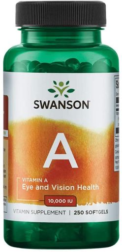 Swanson Vitamin A, 10000 IU, 250 softgels